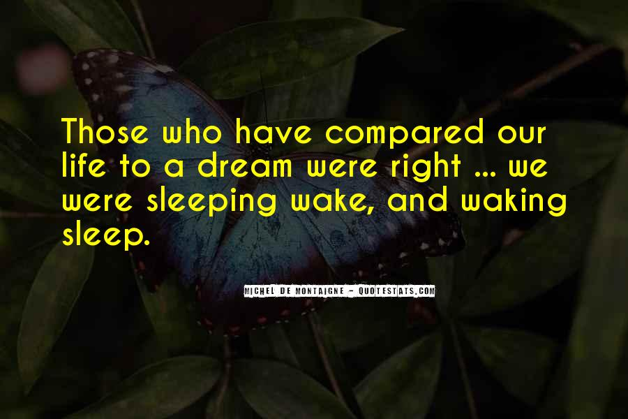 Quotes About Dreams While Sleeping #19349