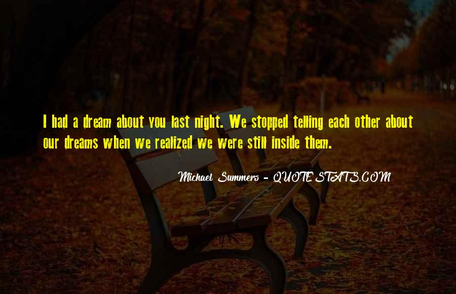 Quotes About Dreams While Sleeping #362403