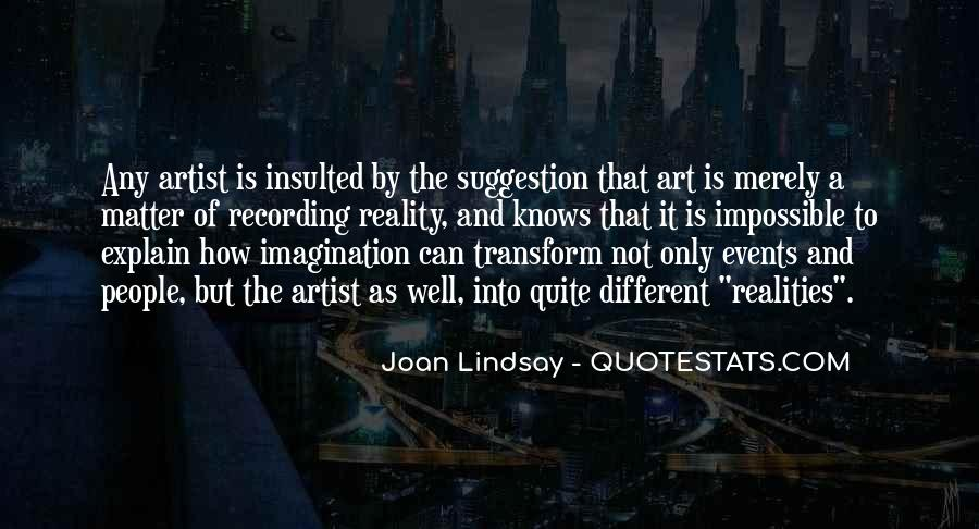 Quotes About Reality And Imagination #141761