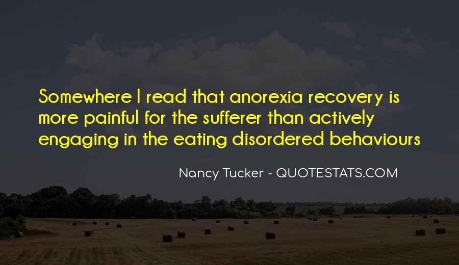 Quotes About Recovery From Anorexia #1567165