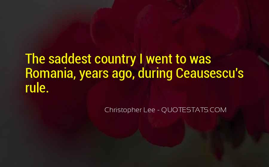 Quotes About Romania #146547