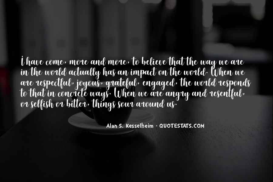 Quotes About Impact On The World #315965