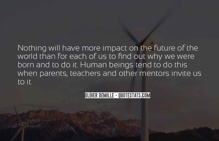 Quotes About Impact On The World #346315