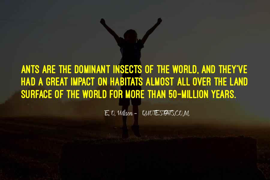 Quotes About Impact On The World #350244