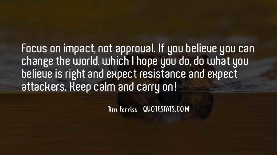 Quotes About Impact On The World #582229