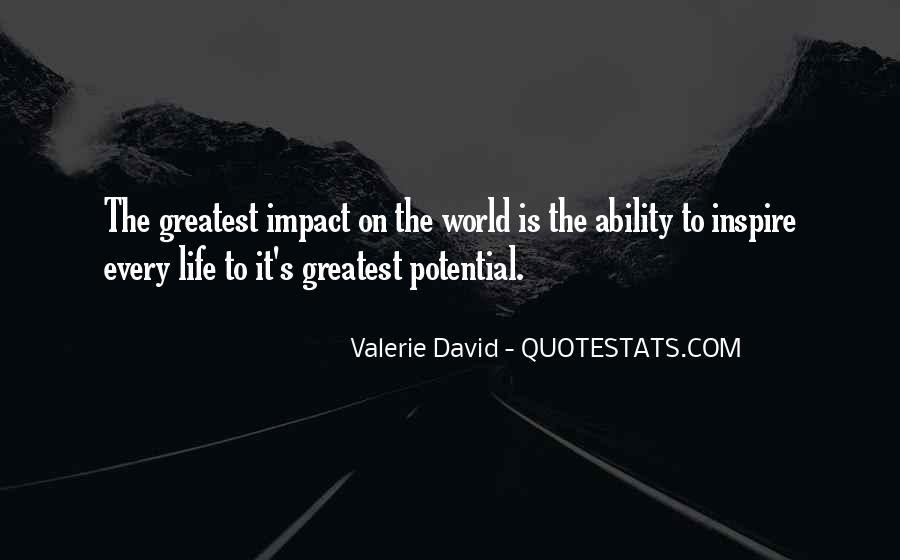 Quotes About Impact On The World #657079
