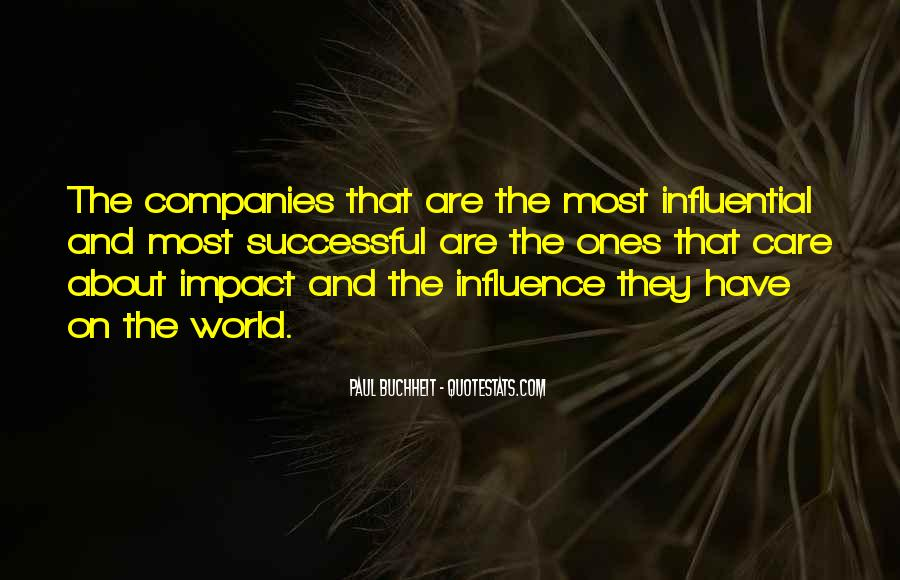 Quotes About Impact On The World #870372