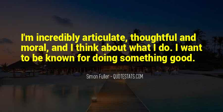Quotes About Articulate #233131