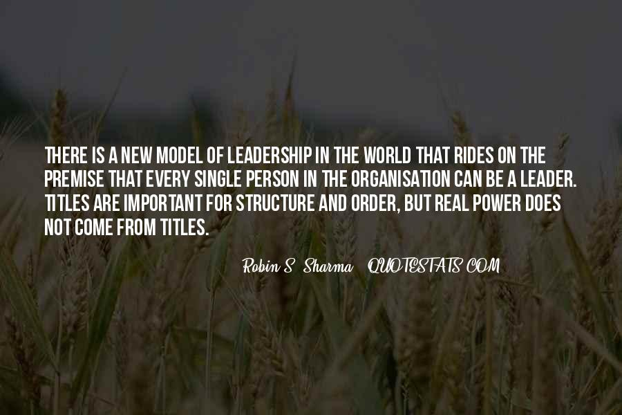 Quotes About Organisation Structure #1336951