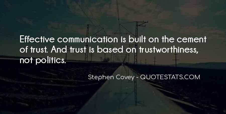 Quotes About Trustworthiness #1247548