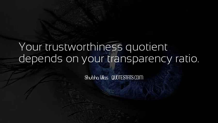 Quotes About Trustworthiness #1508348