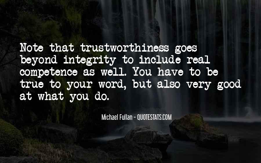 Quotes About Trustworthiness #823134