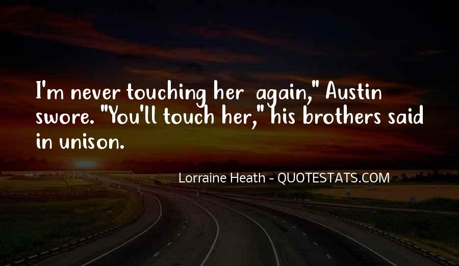 Quotes About His Touch #204026