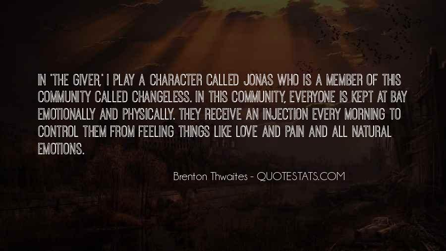Quotes About Pain The Giver #1793291