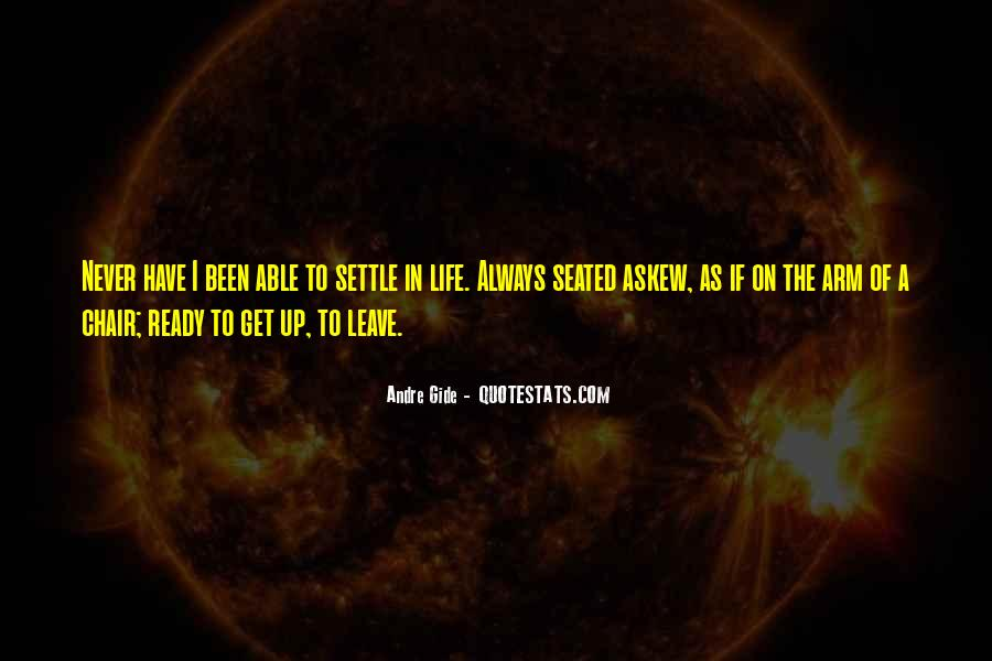 Quotes About Not Settling #152031