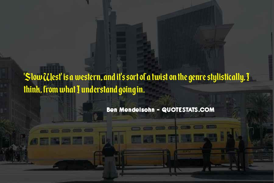 Quotes About Western Genre #130284