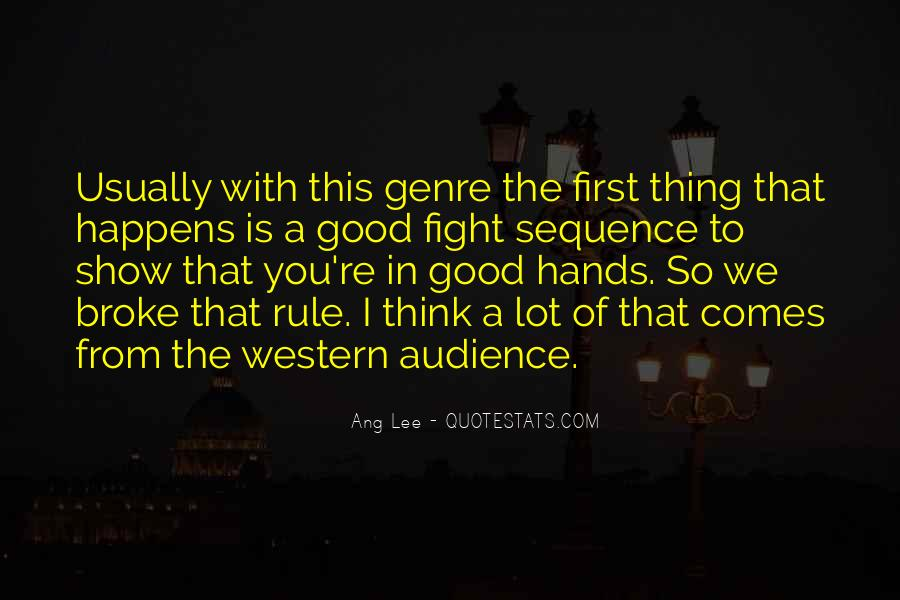 Quotes About Western Genre #1810310