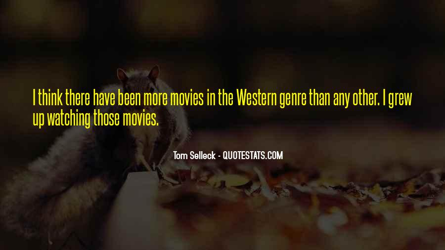 Quotes About Western Genre #429940