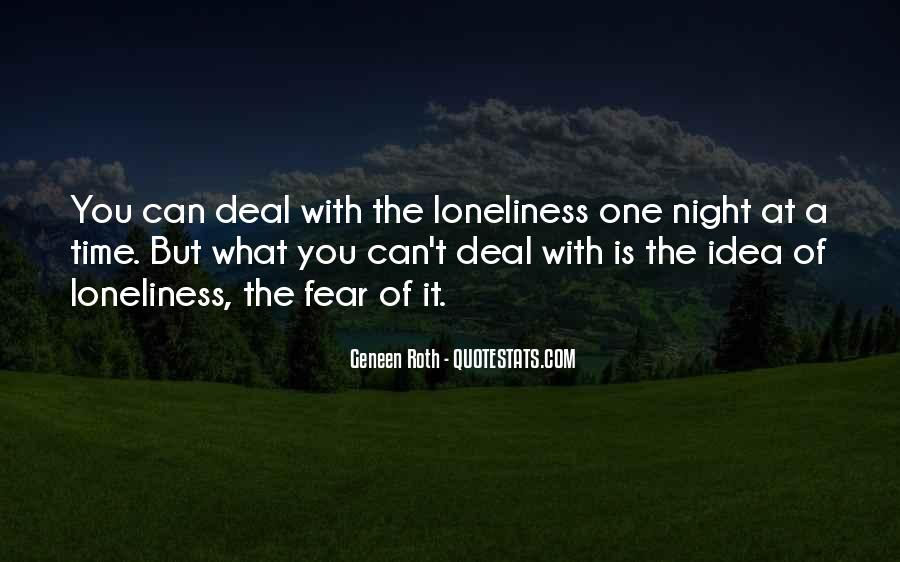 Quotes About Night Time Loneliness #1847196