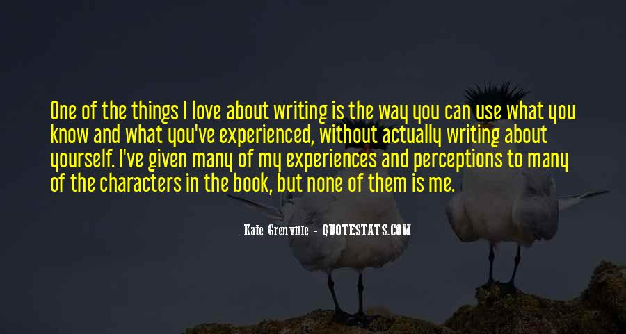 Quotes About Experiences In Love #855635