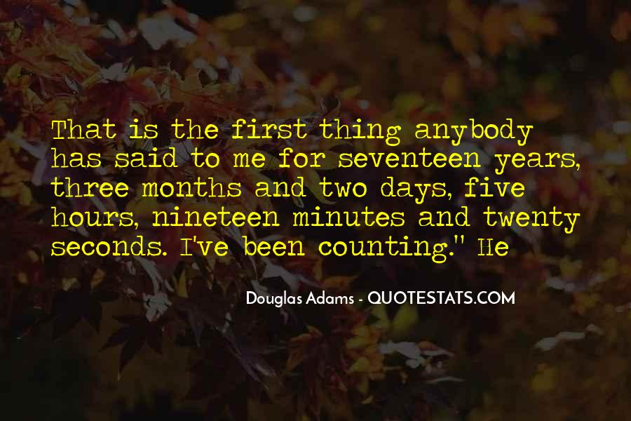 Quotes About Counting Days #1409490
