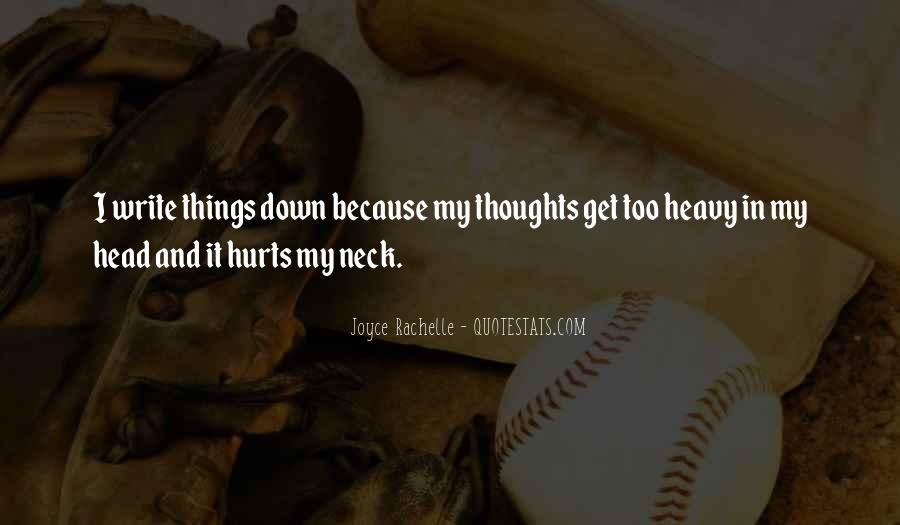 Quotes About Heavy Head #1347186