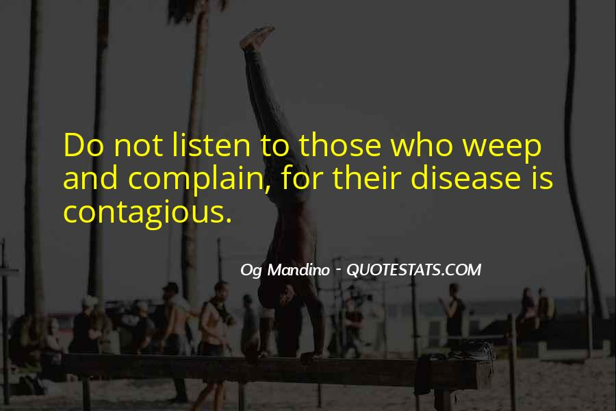 Quotes About Contagious Disease #463830