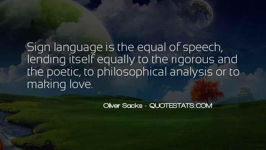 Quotes About Speech And Language #1138918