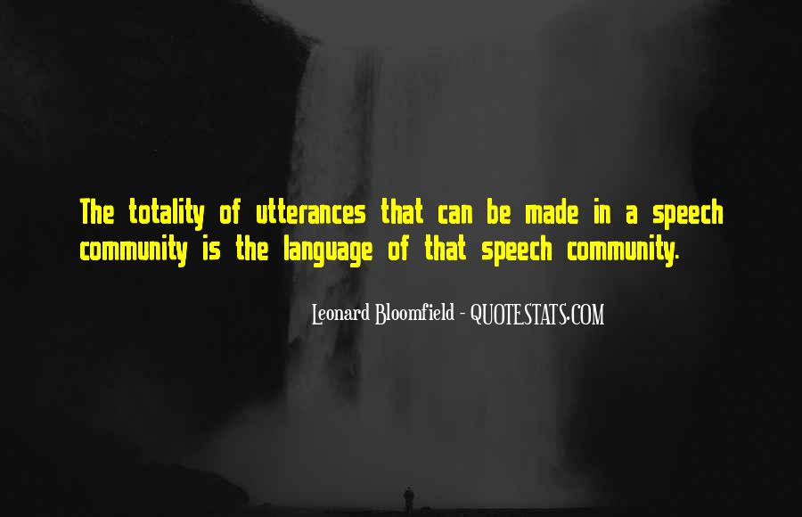 Quotes About Speech And Language #1172971
