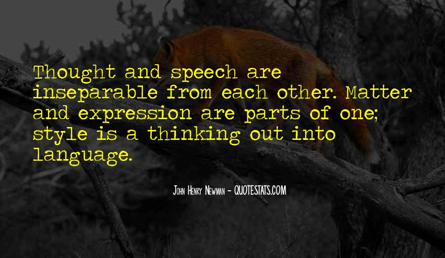 Quotes About Speech And Language #1386823