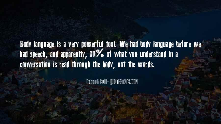 Quotes About Speech And Language #1642628