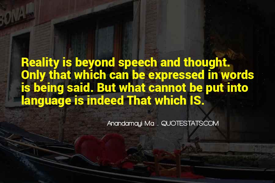 Quotes About Speech And Language #1642743