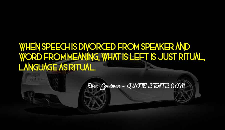 Quotes About Speech And Language #1874793