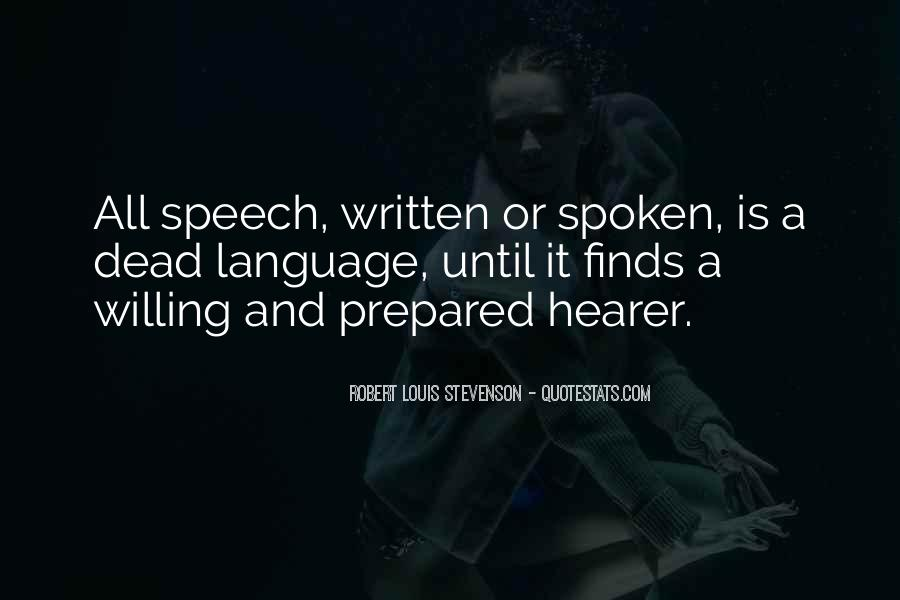 Quotes About Speech And Language #328656
