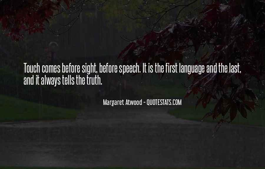 Quotes About Speech And Language #581006