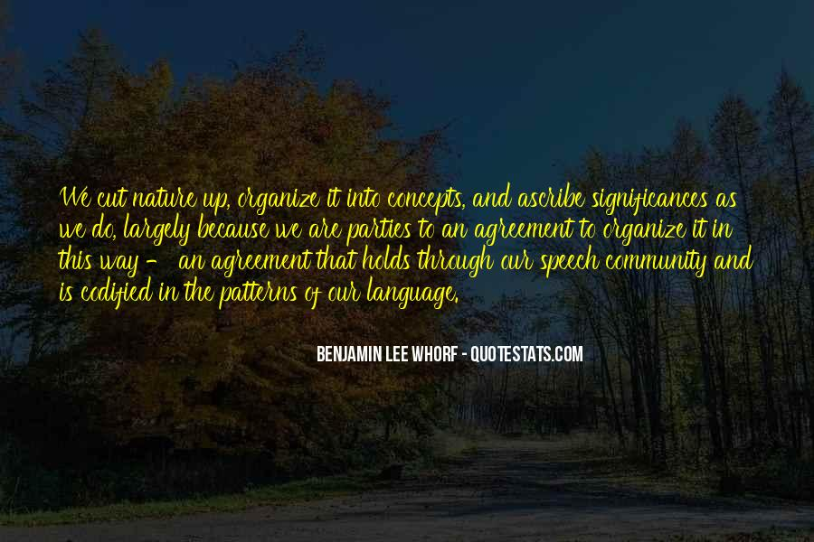 Quotes About Speech And Language #856557