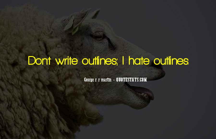 Quotes About Outlines #672496