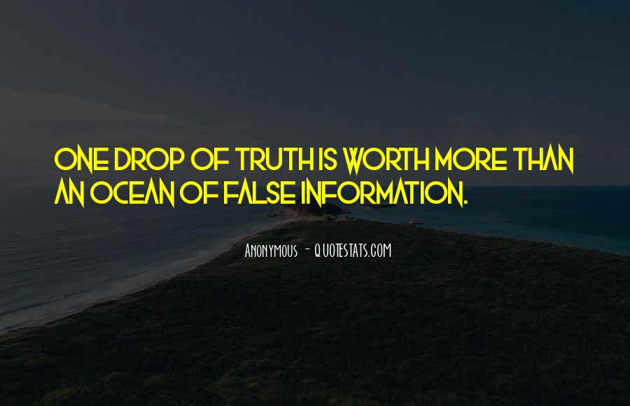 Quotes About False Truth #47593