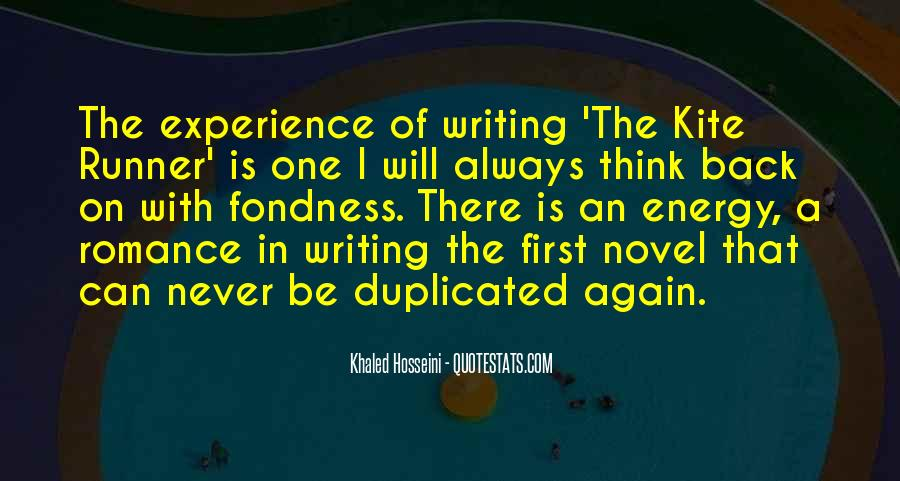 Quotes About Writing In The Kite Runner #1264079