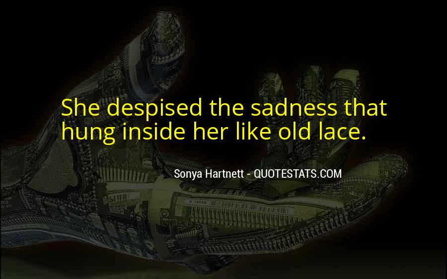Quotes About Inside Sadness #1685965
