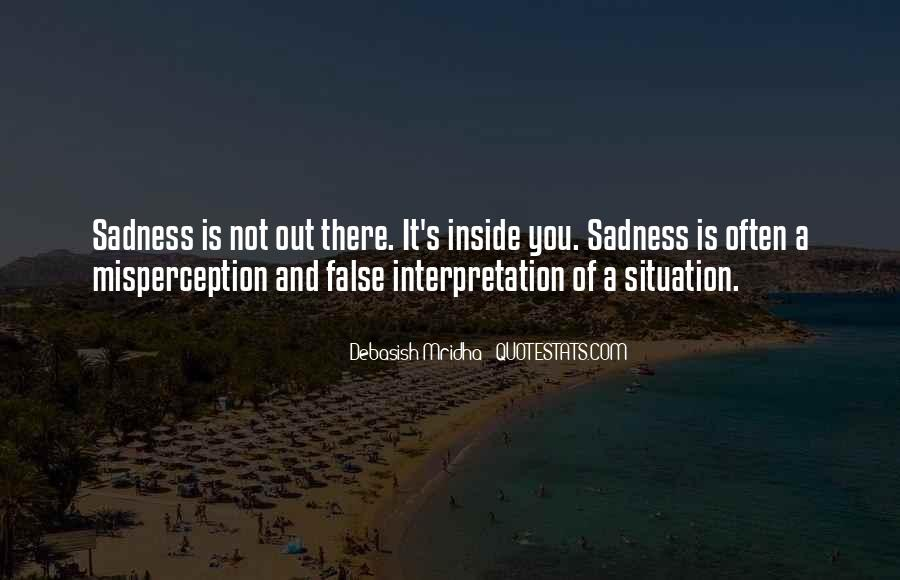 Quotes About Inside Sadness #506068