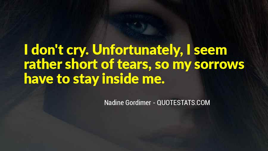 Quotes About Inside Sadness #748155
