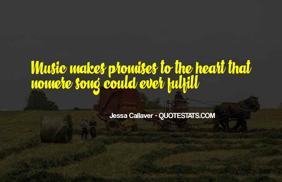 Quotes About Heart And Music #106289