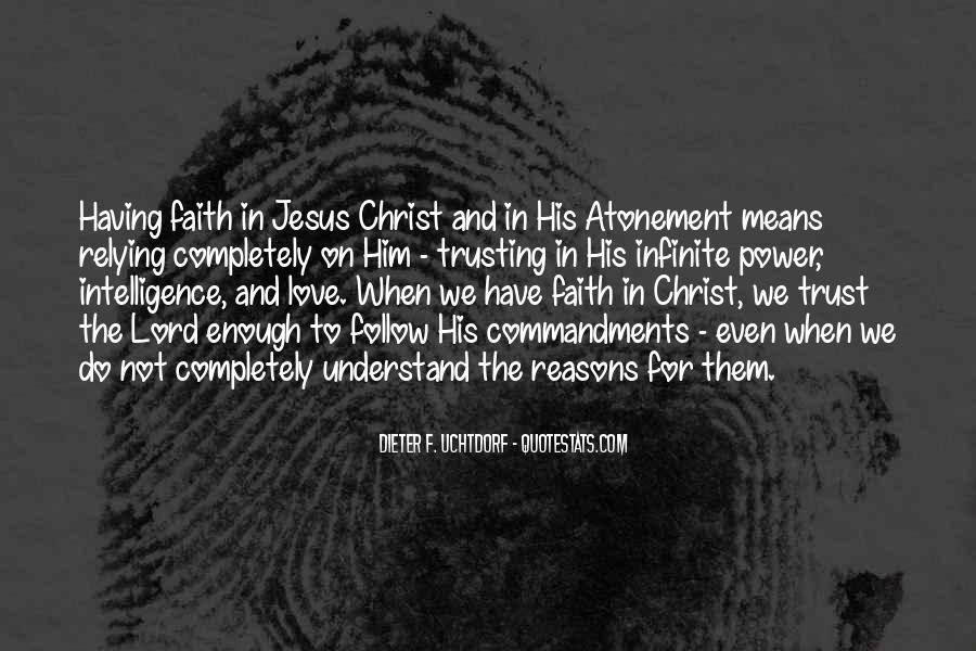 Quotes About Trusting Jesus #1233523