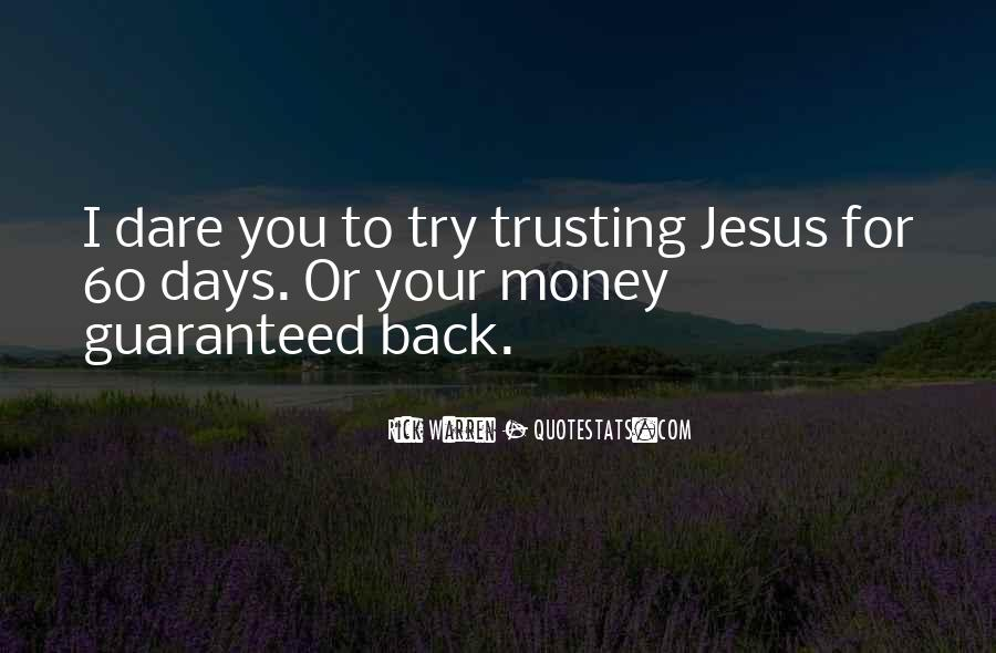 Quotes About Trusting Jesus #877081