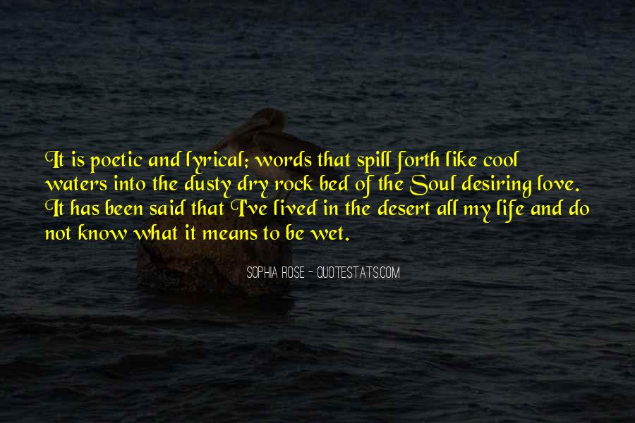 Quotes About Desiring Something #335638