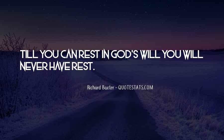 Quotes About Rest In God #2602