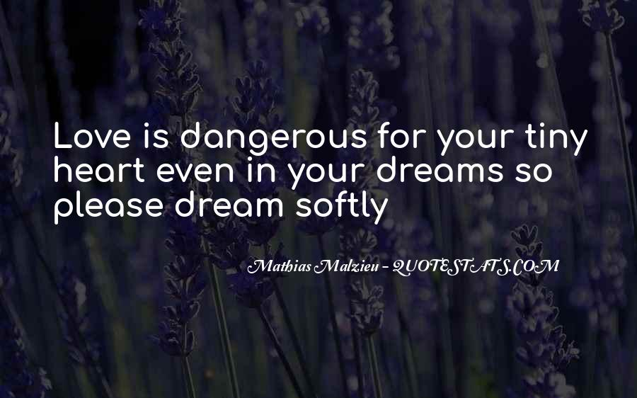 Quotes About Love Is Dangerous #530085