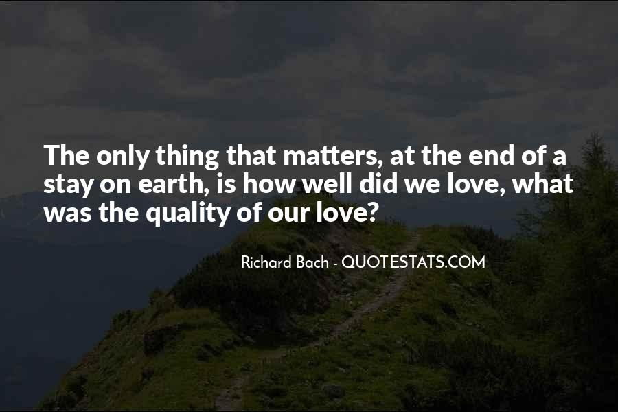 Quotes About What Matters In Love #111159