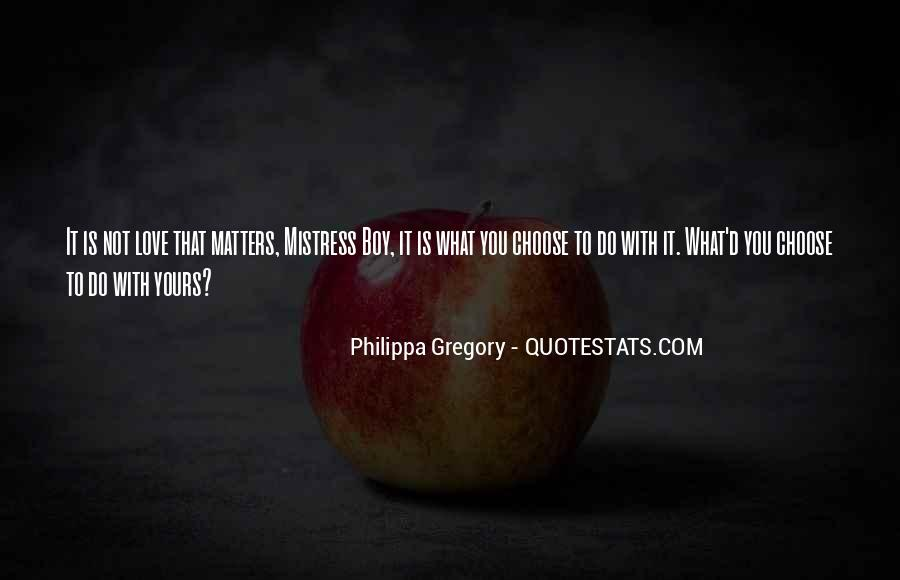 Quotes About What Matters In Love #27583